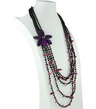 Madre de Perla Y Piedras Preciosas Perla 26 in (approx. 66.04 cm) Collar de cinco capas