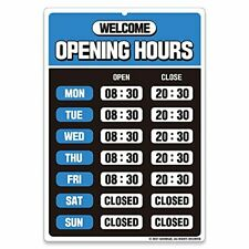 Business Hours Sign Opening Hour Sign Store Hours Sign Hours Of Blue