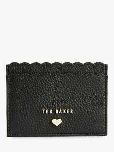 BRAND NEW TED BAKER SANTESA LEATHER CARD HOLDER BLACK SCALLOP