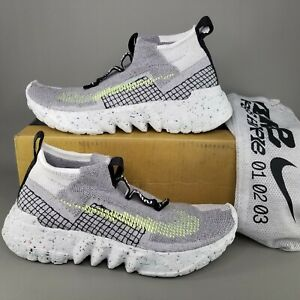 Nike Mens Space Hippie 02 This Is Trash Volt Running Shoes SZ 11.5 Athletic Gray