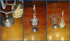 PORTAFIASCO anni 20 in miniatura basculante fiasco estraibile supporto metallo