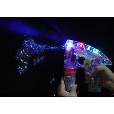Burbuja Ray Pistola Diversión luz LED intermitente Máquina De Burbujas Niños Juguete de jardín al aire libre
