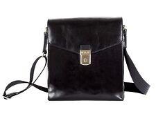 Bosca Old Leather Man Bag - Black
