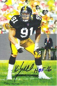 Kevin Greene Signed/Autographed Goal Line Art Card w/HOF 16