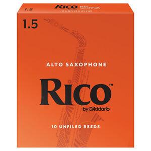 Rico Alto Saxophone Reeds Strength 1.5 (Box of 10)