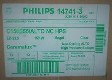 (BOX OF 12)  Philips C150S55/ALTO NC HPS Ceramalux Non-Cycling Lamps, 147413