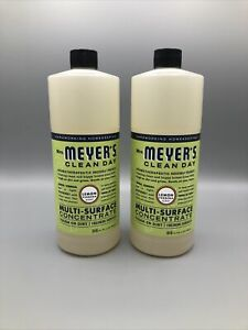 Mrs. Meyer's Clean Day Multi-Surface Cleaner Concentrate 32 oz- Pack of 2 Lemon