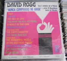 OST DAVID ROSE NUNCA COMPRARAS MI AMOR Y 10 TEMAS DE PELICULAS MEXICAN LP SEALED
