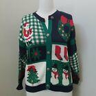 Vintage Sweater Loft NY Santa Ugly Christmas Sweater Cardigan Sz M