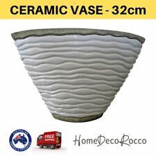 Ceramic White Floor Standing Large Pot Home Decor Floral Decorative Ornament