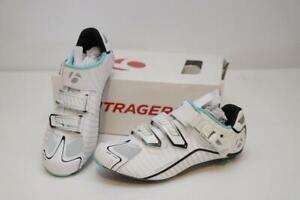 New Bontrager RL Road Bike Shoes 38 6.5 White Women's Cycling Carbon Race