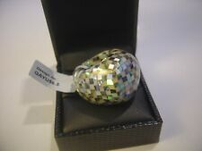 UNUSUAL STUNNING -MASSIVE MOTHER OF PEARL RING-EXPENSIVE SIZE L LOVLEY