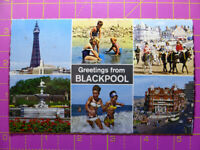Vintage Greetings from BLACKPOOL, Lancashire POSTCARD Colour 14 x 9cm Unposted