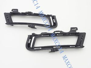 Pair Front Bumper Bezel Fog Lamp Light Cover For VW MK7 Volkswagen Golf VII 7
