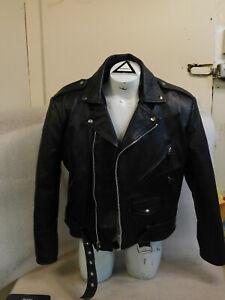 VINTAGE WILSONS Leather Motorcycle Jacket XL Mens Vtg Belted BIKER Jacket