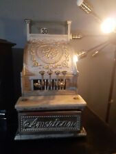 1900's Brass Antique Cash Register by The American Cash Register Company.Works