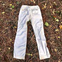 Hollister Cargo Pants Bootcut Juniors Girls Size 5 Logo Beige