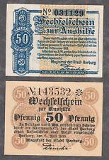 Harburg - Stadt - 50 Pf. vom 17.05.1917 und 50 Pf. vom 5.07.1919
