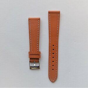 18mm Honey / Orange Textured Leather Watch Strap