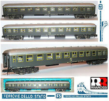 RIVAROSSI 2680 VINTAGE CARROZZA PASSEGGERI di 1a CLASSE FS 10 Com.ti BOX SCALA-N