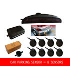 8 Parking Sensors LED Display Car Reverse Backup Radar Kit + Sound Alert Monitor