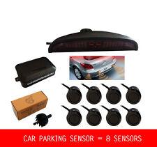 8 Parking Sensors LED Display Car Reverse Backup Radar Kit + Sound Alert Monitor