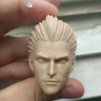 """Blank Hot 1/6 Scale Devil May Cry Wizard Vergil Head Sculpt Unpainted Fit 12"""""""