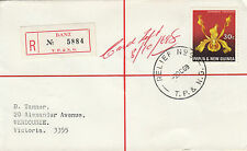 Stamp Papua New Guinea 1969 on cover sent registered BANZ Relief No 9 postmark