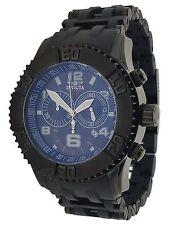 Invicta 6713 Sea Spider Black Silicone Black Chronograph Tachymeter Mens Watch