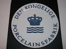 """Royal Copenhagen Plate 1974 Dealer'S Plate 10""""Dia"""