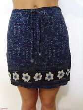 GIRLS DARK BLUE SKIRT BY MY MICHELLE WITH FLOWERS SIZE 9