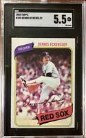 1980 Topps #320 Dennis Eckersley SGC 5.5 Excellent+ Condition Red Sox HOF A's
