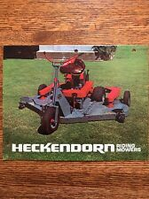 Vintage Heckendorn Riding Lawn Deck Mower Garden Tractor Brochure Cedar Point KS
