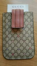 GUCCI iPHONE 4 /4S IPOD TOUCH CASE 240188 GG SUPREME STARS CANVAS LEATHER