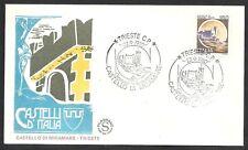 1980 ITALIA FDC FILAGRANO CASTELLO DI MIRAMARE TRIESTE  SERIE CASTELLI D'ITALIA