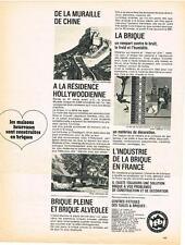 PUBLICITE  1968   TB    TUILES &  BRIQUES