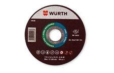 DISCO SMERIGLIATRICE DA TAGLIO WURTH 115 X 1.0 SOTTILE, FERRO ACCIAIO INOX GHISA