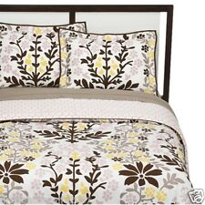 Room 365 Twin Duvet Cover Set Floral 2 pc cotton yellow brown pink