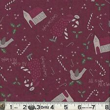 Lecien CANDY CANE ANGELS Angel Toss Red Fabric 1/2 yard by Lynette Anderson