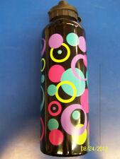 Mod Circles Neon Modern Summer Garden Party Gift Favor Aluminum Water Bottle