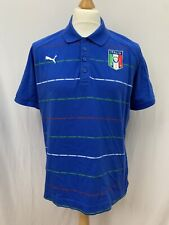 Mens | Puma Italy Italia 4 World Cup Win Years Polo Shirt | Blue | Size L