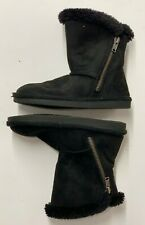 Airwalk Toddler Boots Fir lined suede with zipper side size 10 1/2 10.5