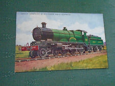 GREAT WESTERN RAILWAY 4 CYLINDER 4-6-0 EXPRESS - OLD VALENTINES POSTCARD