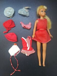 1967 Skipper doll & 60s clothing outfit hat lot Mattel MOD Barbie