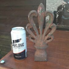 ANTIQUE CAST IRON FINIAL Architectural Vintage Reclamation Old