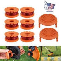 Hot 6Pack WORX WA0010 Replacement Spool Line Parts For Grass Trimmer/Edger+2 Cap