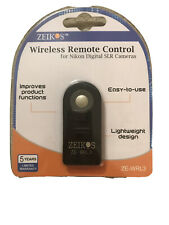 Zeikos Wireless Remote Control For Nikon Digital SLR Cameras NEW