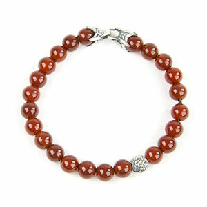 DAVID YURMAN Men's Carnelian Spiritual Accent Bead Bracelet $495 NEW