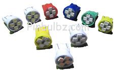 "Pinball LED bulbs 100pc COOL WHITE #555 ""Super Bright Quad"" 4LED 6.3v wedge 4smd"