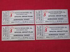1959 ~ PACIFIC OCEAN PARK ~ POP / SANTA MONICA, CALIF/ UNUSED TICKETS $ 1.10